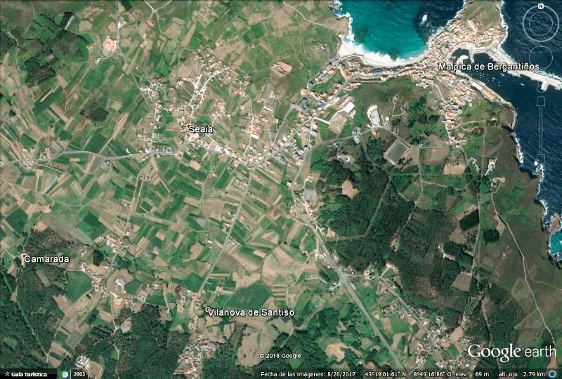 Malpica de Bergantiños Google earth 2018-03-07