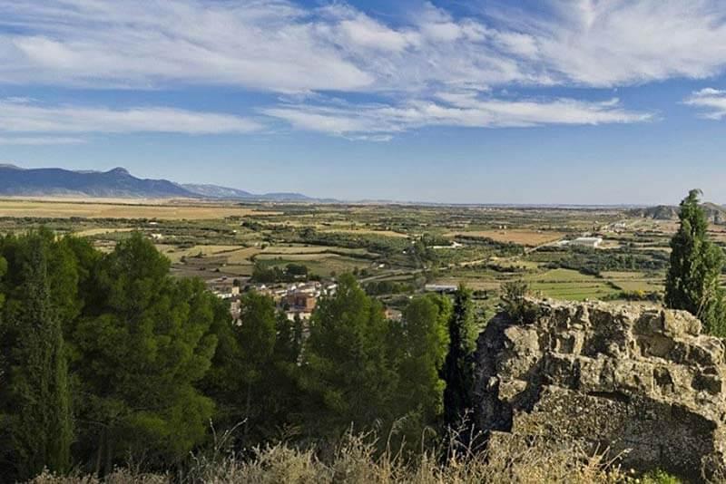 Panoramica desde el castillo de Ayerbe foto Ayuntamiento