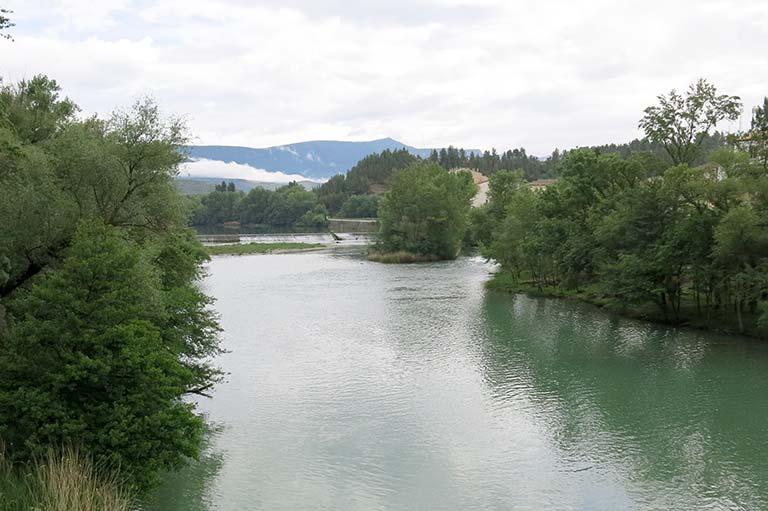 Sanguesa, rio Aragon