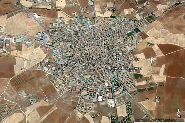 Villanueva de los Infantes Google earth 2020-02-10)