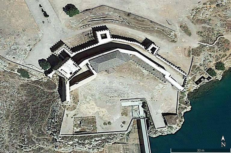 Castillo de Peñarroya (Google earth 2021-01-21)