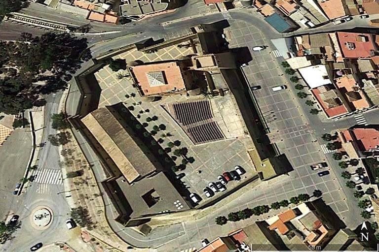 Cuevas del Almanzora Castillo de los Velez (Google earth 2019-09-07)