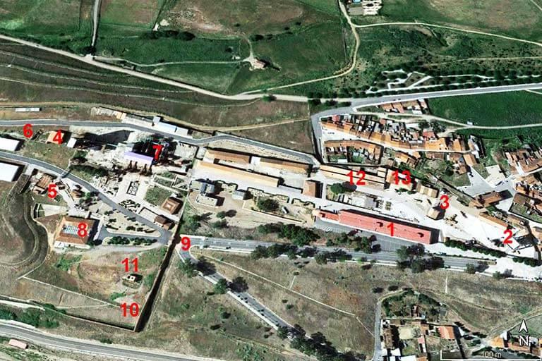 Parque Minero de Almaden (Google earth 2020-03-25)