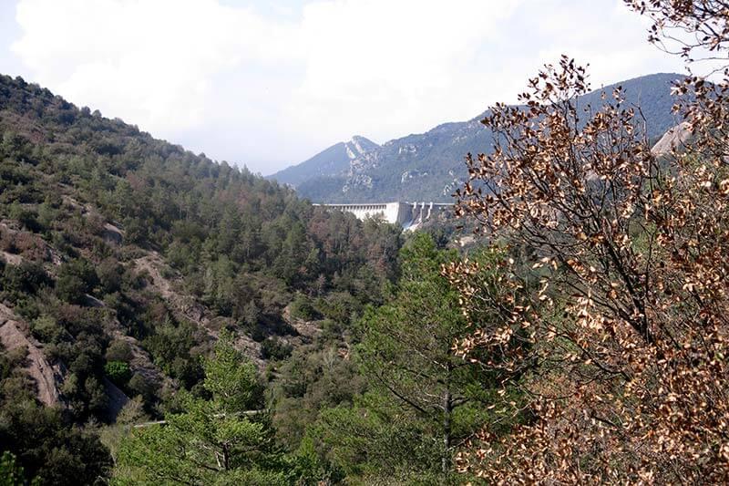 Vall de río Llobregat y embalse de La Baells