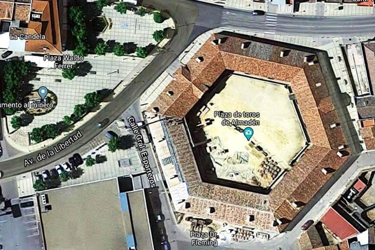 Almaden Plaza de Toros (Google maps 2020-03-25)