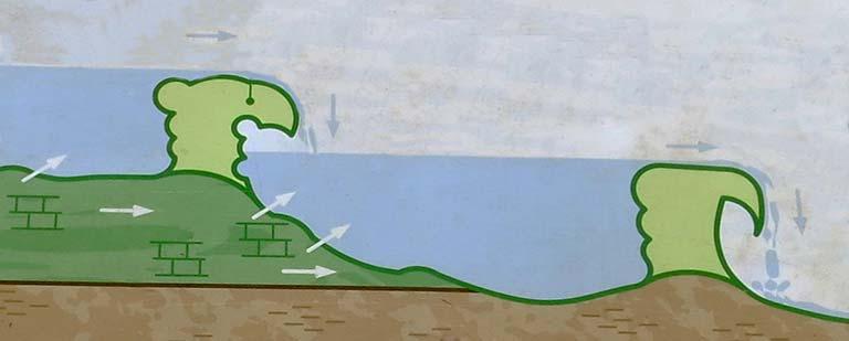 Lagunas de Ruidera Sucesion de barreras