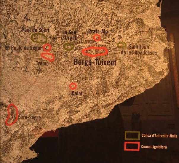 Zonas mineras de carbón en Cataluña