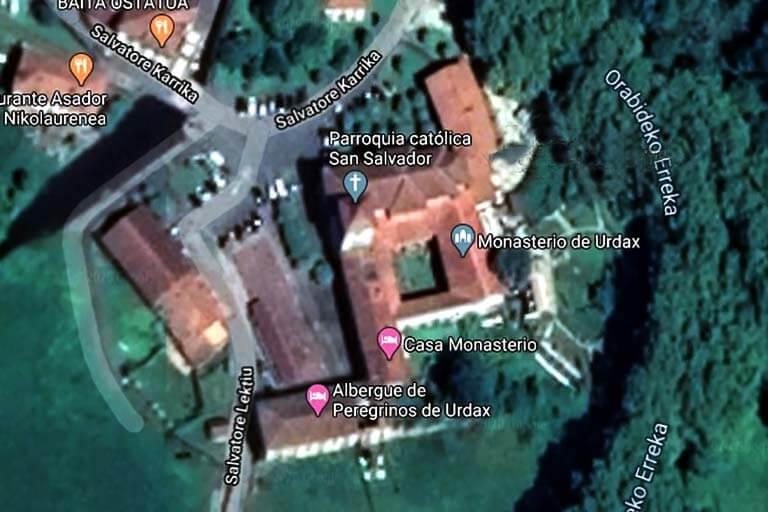 Monasterio de Urdax (Google maps 2020-04-11)
