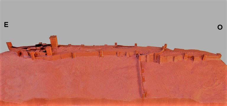 Castillo de Santa Catalina, Jaen Recinto medieval y moderno (maqueta en el Castillo)