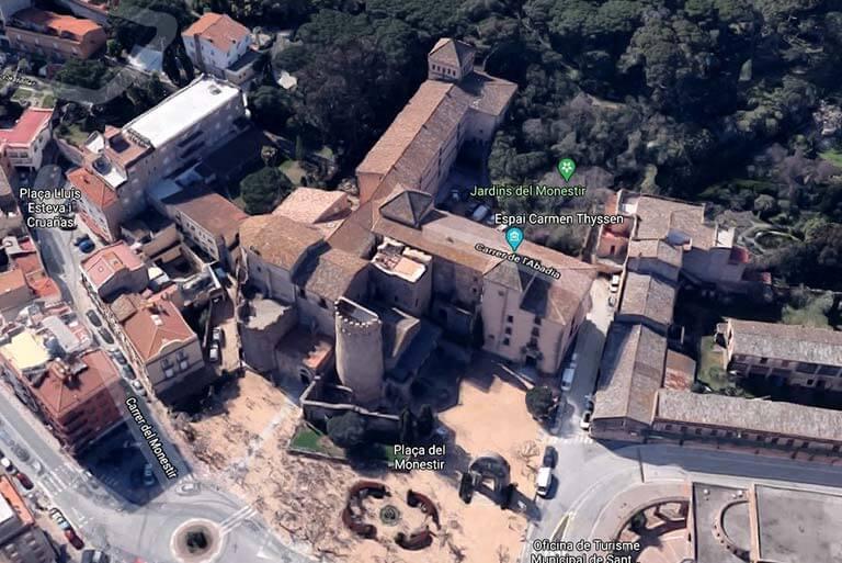 Sant Feliu de Guixols, Girona, Monestir N a S(Google maps 2021-03-04)
