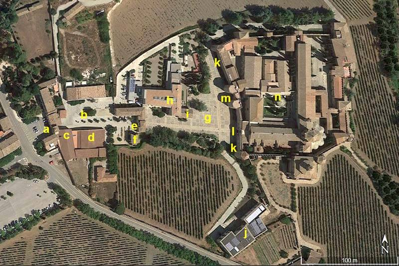 Monestir de Poblet (Google earth 2018-04-04)