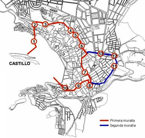 Castillo de Santa Catalina, Jaen Muralla almohade y ampliación cristiana