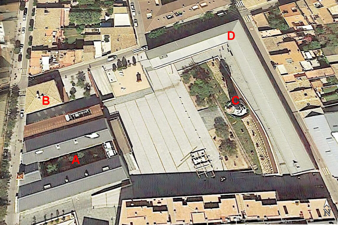 Complex museistic Can Mario, Palafrugell, Girona (Google earth 2020-12-14)