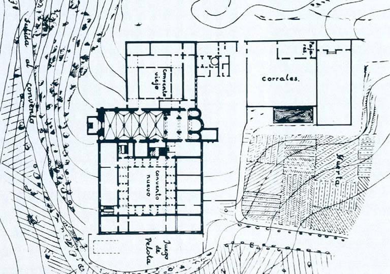 Plano del Monasterio levantado por la Comisión de Monumentos de Navarra en 1867