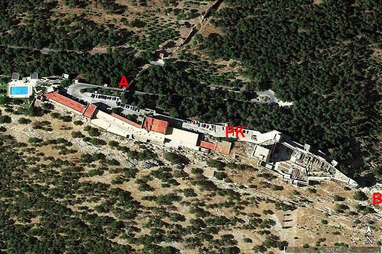 Castillo de Santa Catalina, Jaen (Google earth 2020-08-20)