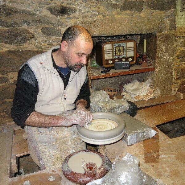 Proceso de producción de un botijo. Ecomuseo Forno do Forte, Buño