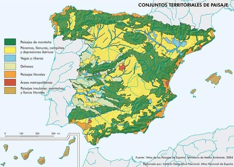 Espana Conjuntos territoriales de paisaje 2016 IGN