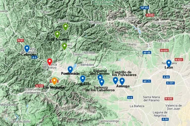 Microhostal La Puerta del Perdon rutas (Google maps 2020-05-17)