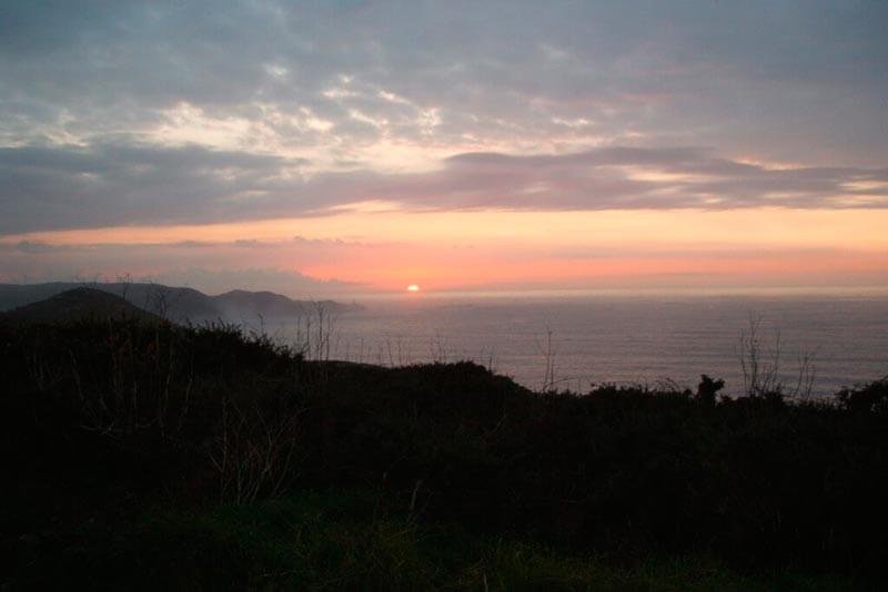 Puesta de sol sobre el Atlántico