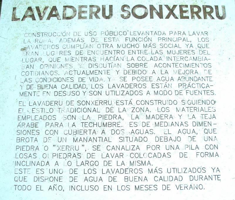 Caleao, Inscripción del Lavadero de Sonxerru