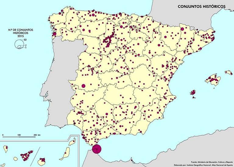 Espana Conjuntos historicos 2015 IGN