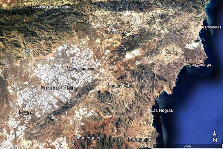 Agua Amarga Las Negras (Google earth 2019-07-23)
