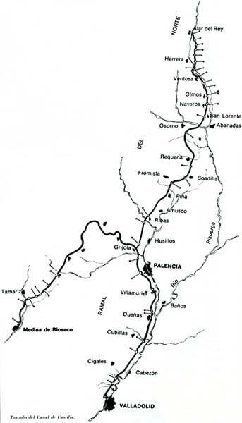 Canal de Castilla,trazado