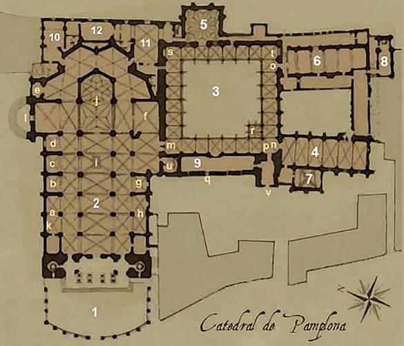 Planta catedral Pamplona