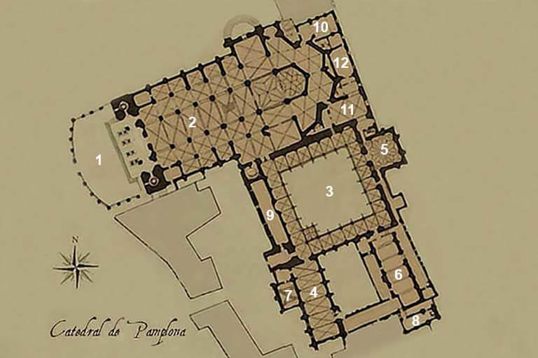 Planta de la catedral de Pamplona
