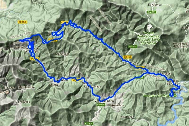 Ruta-Meandro-del-Melero-(Google-maps-2018-07-21)