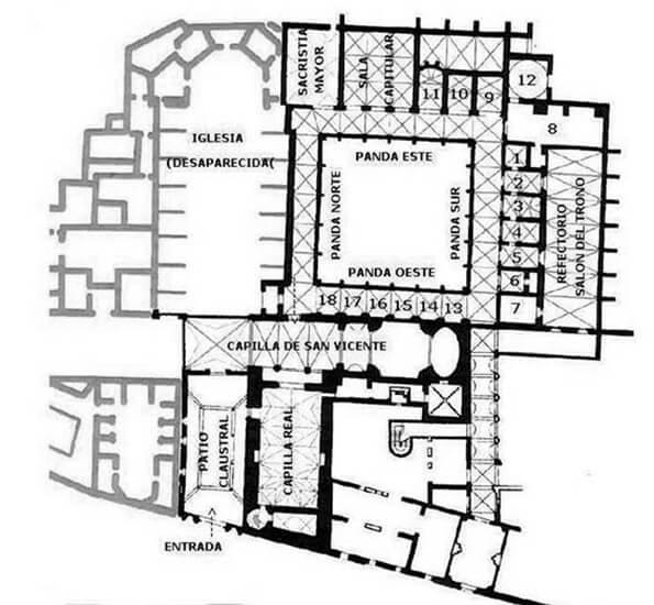 Planta del convento de Santo Domingo (Valencia)