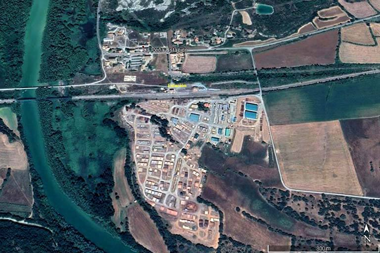 La Peña Estación (Google earth 2020-01-31)