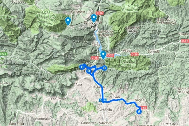 Ruta Berga (Google maps 2018-04-30)