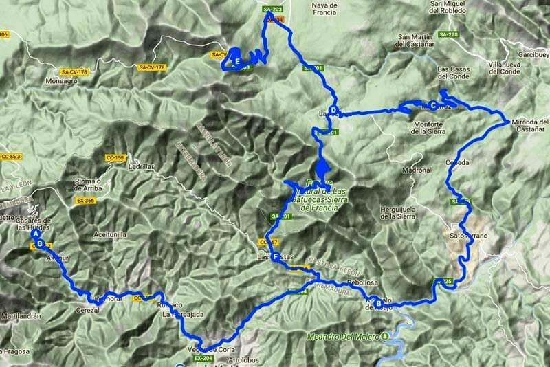 Ruta-La-Alberca-(Google-maps-2018-07-21)