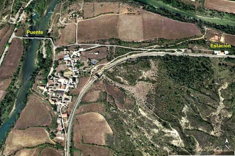Anzanigo Huesca (Google earth 2020-01-31)
