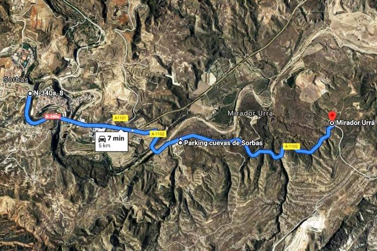 Parque natural karst en yesos de Sorbas. Almeria(Google maps 2020-10-06)