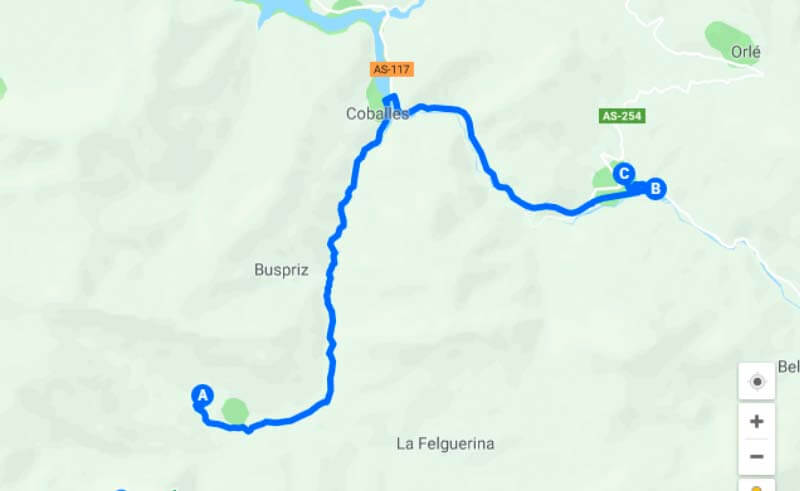 Ruta Quesería (Google-maps-2018-03-17)