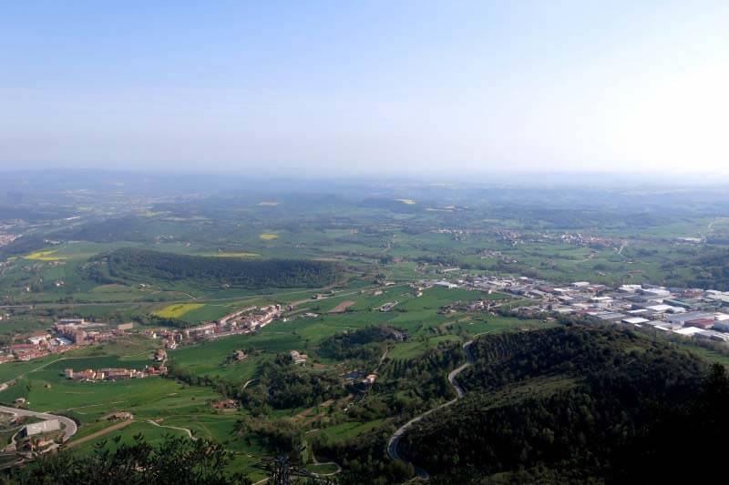 Vista sobre la plana del Berguedà