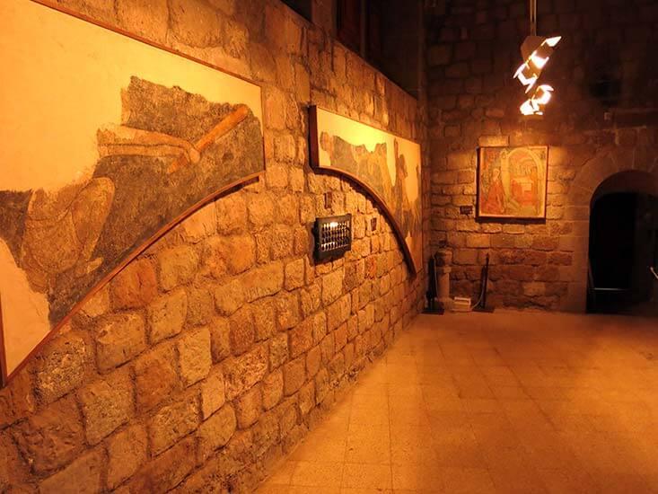 Monestir de Santa Maria de Lluça Pinturas goticas