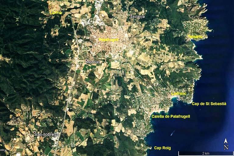 Palafrugell i el seu entorn (Goole earth 2019-10-15)