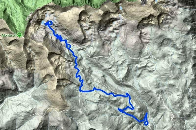 Estanys de la Pera (Google-maps-2018-09-22)