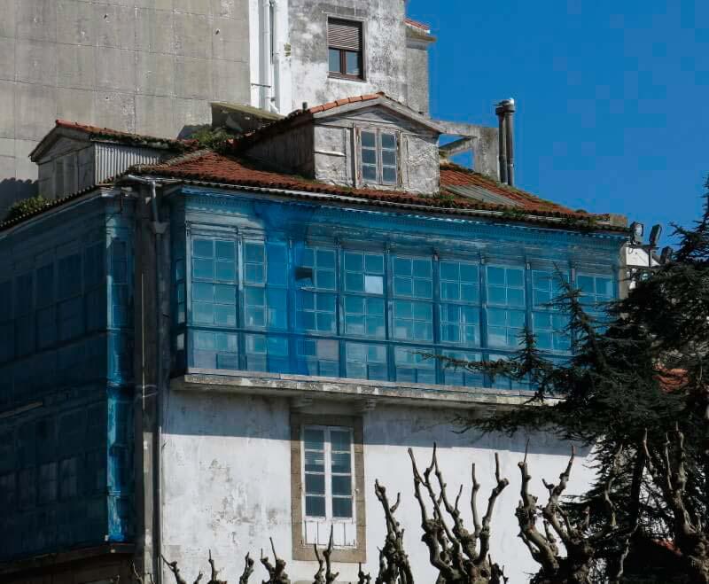 Casas del barrio antiguo de A Coruña