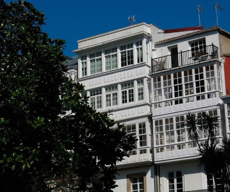 Cases del barri antic de A Coruña