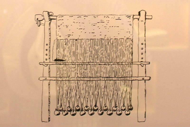 Ullastret Museo Representació d'un teler vertical