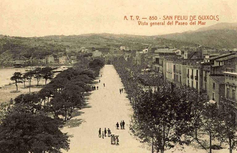 Sant Feliu de Guixols, Girona, Passeig del Mar historic