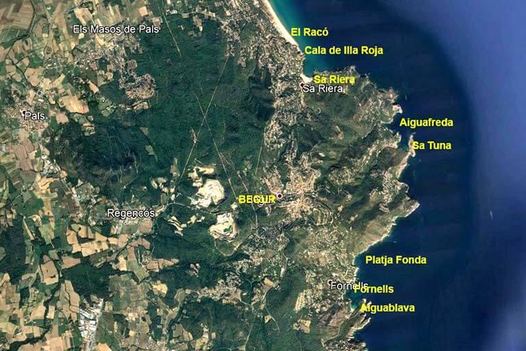 Begur playas (Google earth 2020-04-19)