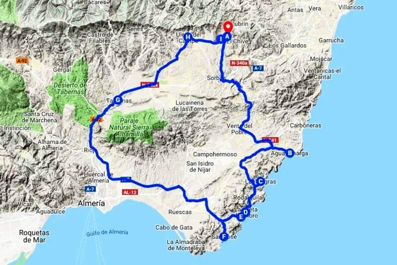 Cabo de Gata (Google-maps-2019-04-30)
