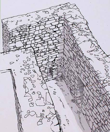Jaciment iber de Turo Rodo muralla