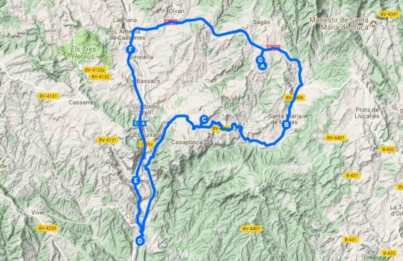 Ruta Colònia Vidal (Google maps 2018-04-28)