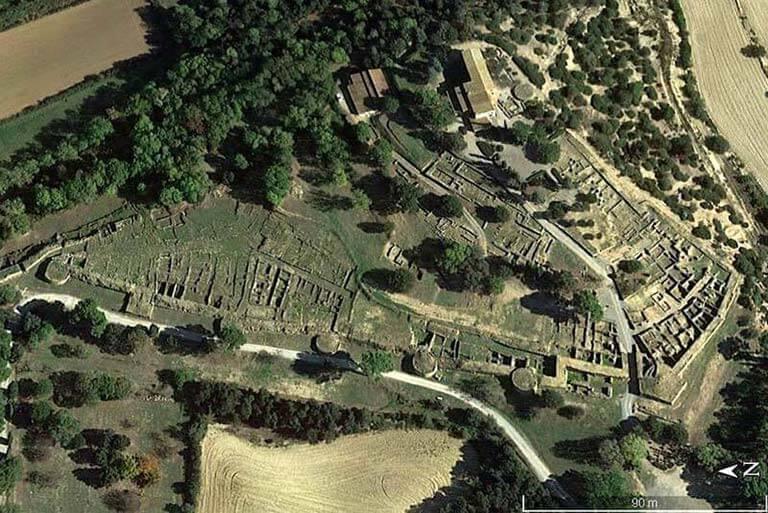 Poblat iber d'Ullastret (Google earth 2018-09-14)